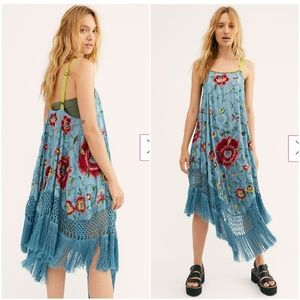 Free People Wonderer Trapeze Dress